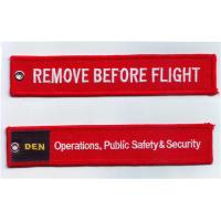 Remove Before Flight Operation Public Safty Security Fabric Embroidered Key Tags