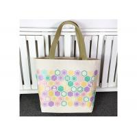 Buy cheap Customized Cotton Canvas Tote Bag , Organic Cotton Tote Bags Plain Woven Fabric from wholesalers