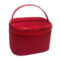 Buy cheap Custom Flocking Clear PVC Cosmetic Bags For Travel / Home Use from wholesalers