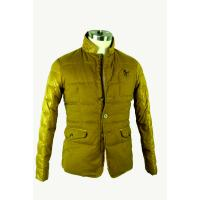 Long Sleeve Mens Windbreaker Jackets , Lightweight Quilted Jacket Yellow Manufactures