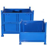 Buy cheap 5.0mm Diameter Collapsible Wire Container , Metal Stackable Steel Pallet Box 1000kg Loading Capacity from wholesalers