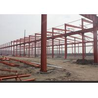 Quality Galvanized Steel Structure Hangar Welded Round Bar Brace Single / Multiple Span for sale