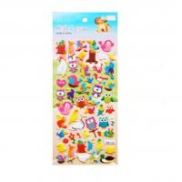 Buy cheap Animal DIY Kids Play 3D Puffy Stickers With OEM Designs Safety EN71 Standard from wholesalers