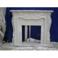 Buy cheap Caved natural indoor marble fireplace product