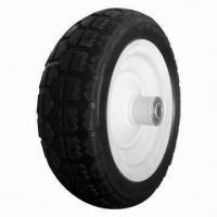 Buy cheap 10-inch PU Foam Wheel with 150kg Loading Capacity, Used for Wheelbarrow, Tool Cart and Machine from wholesalers