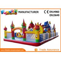 Wholesale Colorful Inflatable Amusement Park For Kids / Fun City Inflatable Bouncers With Slide from china suppliers