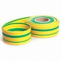 Wholesale Polyolefin Yellow/Green Striped Heat Shrinkable Tube, Resistant to Common Fluids and Solvents from china suppliers