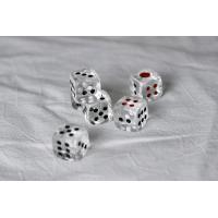 Buy cheap 6 Dice Sides Transparent Magic Gambling Dice Plastic Material Regular Size from wholesalers