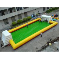 Buy cheap Yellow With Blue Inflatable Soap Soccer Field For Commercial Use from wholesalers
