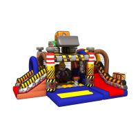 Buy cheap Construction Builder Combo Jumping House / Double Slides Inflatable Bouncy House from wholesalers
