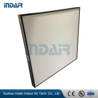 Wholesale Alumiunm Frame Clean Room HEPA Filters , Mini Pleat HEPA Filter With HV Fiberglass from china suppliers