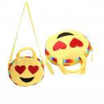 Buy cheap plush emoji wallet, mini coin purse,custom emoji plush soft embroidered emoji wallet handbag from wholesalers