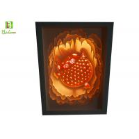 Buy cheap Illuminated Cut Paper Light Sculpture Lamp Promotional Gift LED And Music System from wholesalers