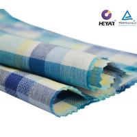 Buy cheap Low Minimums Custom Lightweight Yarn Dyed Checks Natural Cotton Italian Linen Shirt Clothing Fabric Textiles for Dresses from wholesalers
