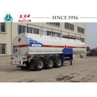 Buy cheap 40000 Liters 3 Axles Fuel Tanker Trailer Carbon Steel Body For Wet Cargo Transport from wholesalers