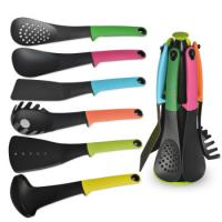 Buy cheap High quality 6-piece silicone nylon cooking set with spaghetti fork laddle spoon with FDA certification from wholesalers