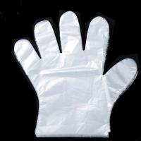 Buy cheap 1.2g Food Grade Disposable Gloves , Disposable Plastic Hand Gloves In 100 Sets from wholesalers