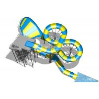 Buy cheap Magic Flying Blanket Fiberglass Water Slides Platform 20m For Theme Park Project from wholesalers