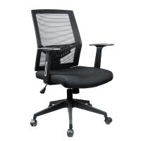 Wholesale High Back Black Mesh Office Chair / Ergonomic Swivel Chair With Headrest from china suppliers