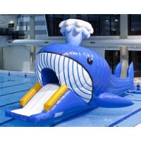 Buy cheap Aquatic Park Games Jumbo Inflatable Dolphin Water Slide With Obstacle Tunnle from wholesalers
