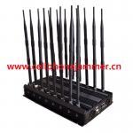 Buy cheap Adjustable 14 Antennas Powerful GSM 3G 4G Phone Blocker & WiFi UHF VHF GPS Lojack All Phone Bands Signal Jammer from wholesalers
