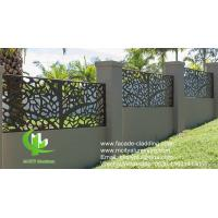 Buy cheap Outdoor Laser Cutting  Aluminum Sheet Fence  With Patterns For Garden Gate Decoration from wholesalers