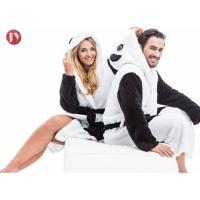 Buy cheap Panda Soft Bathrobe With Hood Women Men Nightgown Home Clothes Warm Bath Robes Dressing Gowns from wholesalers