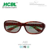 Cool Lady Linear Polarized 3D TV Glasses / Eyewear With PC Frame Manufactures