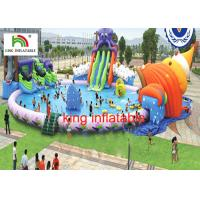 Buy cheap 30M diameter Water Park With 3 Awesome Inflatable Water Slides And Other Water Games from wholesalers