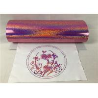 Buy cheap Pink Color Sticky Hologram Heat Transfer Vinyl Excellent Durability And Washability from wholesalers