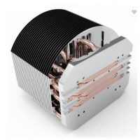 Buy cheap Telecom Zipper Fin Brushed Copper Pipe Heat Sink 50g-1000g ROHS Certificated from wholesalers