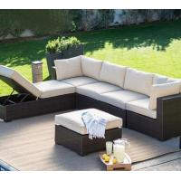 Buy cheap Sectional hotel outdoor use big lots furniture large modular rattan simple sofa lounge outside chair bed set from wholesalers