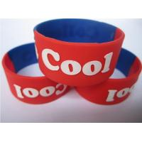 Quality 25mm wide silicone bracelet promotion gift with logo embossed for sale