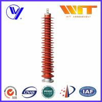 132KV High Voltage Substation Surge Arresters , Polymeric Lightning Protector Manufactures