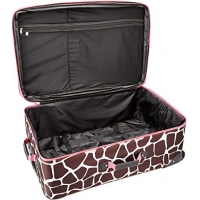 Buy cheap Softside 3Piece Pink Giraffe Spinner Suitcase Set Expandable from wholesalers