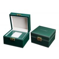 Wholesale Empty Wooden PU Leather Watch Box MDF Wrapped Velvet Inside 295 X 85 X 40mm from china suppliers