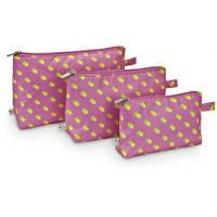 pink leopard skin point cosmetic bag