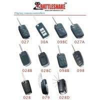 Buy cheap Flip key design Car Alarm Remotes controllers, 433Mhz, 75m - 100m distance from wholesalers