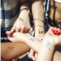 Buy cheap Hot Sale Metallic Flash Jewelry Body Temporary Tattoo Feature Golden Sticker Tattoos from wholesalers