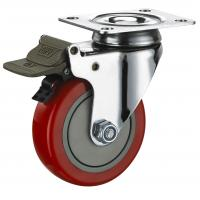 Buy cheap Plate Industrial Polyurethane Caster Wheels 3 4 5 Inch Transport Replacement from wholesalers