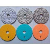 Buy cheap 3 step diamond polishing pad for granite quartz marble and engineer stone from wholesalers