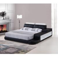Buy cheap Black Color Wooden Bedroom Set  Upholstery King-Size Leather Storage Bed from wholesalers