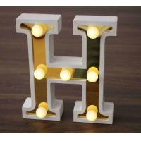 Buy cheap Modern white wooden rustic marquee cheap wooden letters light up sign decoration h from wholesalers