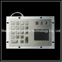 Buy cheap 304 Stainless Steel Trackball Pointing Device With 16 + 2 Keys Touch Screen from wholesalers