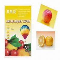 Wholesale 108g/A4 Inkjet Photo Paper, Coated with Matte Finish, Compatible with Epson and Canon from china suppliers
