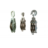 Buy cheap Hook Type Lifting Tackle Iron Wheel Hoisting Block from wholesalers