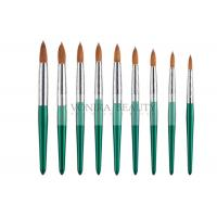 Buy cheap Fashion Green Nail Art Paint Brushes Kolinsky Hair And Carved Ferrule from wholesalers