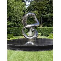 Buy cheap Polished Hollowed Out Modern Outdoor Sculpture Water Feature Fountain Decor from wholesalers