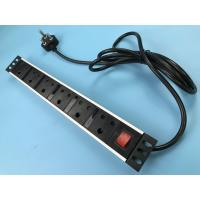 Buy cheap 6 Outlet Multi Socket Power Strip , Metal Flat Plug South Africa Power Bar Vertical Installation from wholesalers