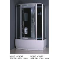 Buy cheap Magnetic Lock Square Shower Cubicles 2 - hole Handles shower tub enclosures from wholesalers